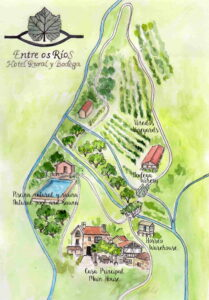 mapa entre os rios